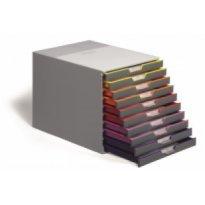 Pojemnik na dokumenty DURABLE Varicolor z 10 szufladami