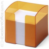 Pojemnik z karteczkami  DURABLE TREND 90x90/800kart przeźroczysty-pomarańczowy