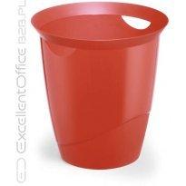 Kosz na śmieci DURABLE TREND 16l przeźroczysty-czerwony
