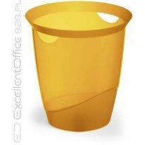 Kosz na śmieci DURABLE TREND 16l przeźroczysty-pomarańczowy