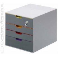 Pojemnik na dokumenty DURABLE Varicolor z 4 szufladami ( jedna na kluczyk)