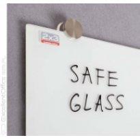 Tablica szklana 2x3 NAGA 100x100cm biała