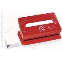 Dziurkacz SAX 128/S czerwony 12k