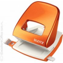 Dziurkacz LEITZ 5008 30k, metaliczny pomarańczowy