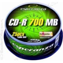 Płyta CD-R ESPERANZA 700MB Cake (25szt)