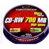 Płyta CD-RW ESPERANZA 700MB Cake (10szt)