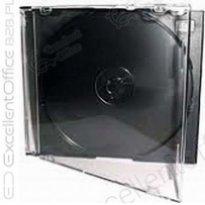 Pudełko na płyty CD Slim przeźroczysto-czarne
