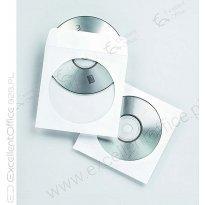Koperta na CD z okienkiem (100szt) biała