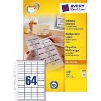 Etykiety uniwersalne Avery Zweckform 48.5*16.9mm (100ark.)