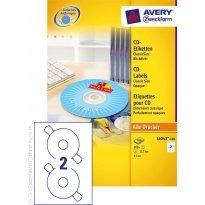 Etykiety samop. ZF Avery CD śr117mm (100ark.)