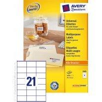 Etykiety samop. ZF Avery 70x41 (100ark.)
