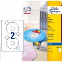 Etykiety samop. ZF Avery CD śr117mm błyszczące białe (20ark.)