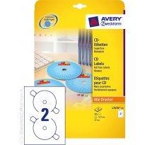 Etykiety samop. ZF Avery CD śr117 białe (25ark.)
