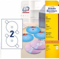 Etykiety samop. ZF Avery CD śr117 białe (100ark.)