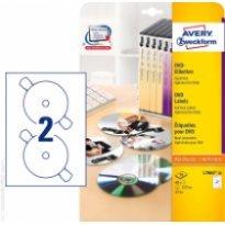 Etykiety samop. ZF Avery DVD śr117 białe (20ark.)