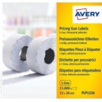 Etykiety cenowe w rolce ZF Avery 26x12 białe,trwałe (15000)