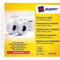 Etykiety cenowe w rolce ZF Avery 26x16 białe,trwałe (12000)