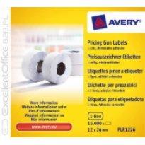 Etykiety cenowe w rolce ZF Avery 26x12 białe,usuwalne (15000)