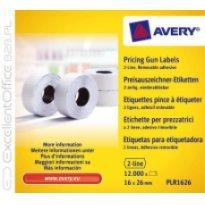 Etykiety cenowe w rolce ZF Avery 26x16 białe,usuwalne (12000)