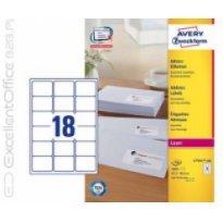 Etykiety samop. adresowe ZF Avery 63.5x46.6, białe (100ark) druk. laserwoa