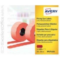 Etykiety cenowe w rolce ZF Avery 26x16 czerwone,trwałe (15000)