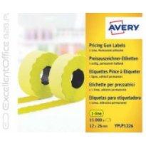 Etykiety cenowe w rolce ZF Avery 26x12 żółte,trwałe (15000)