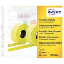 Etykiety cenowe w rolce ZF Avery 26x16 żółte,trwałe (15000)