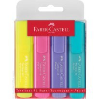 Zakreślacz FABER CASTELL  pastelowy (4kol)