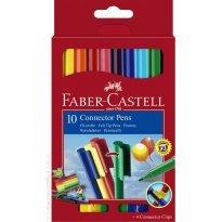 Flamastry FABER CASTELL Connector opakowanie kartonowe 10 kolorów