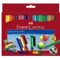 Flamastry FABER CASTELL Connector opakowanie kartonowe 20 kolorów