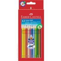 Kredki ołówkowe FABER CASTELL Grip 2001, trójkątne 12 kolorów