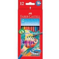 Kredki akwarelowe FABER CASTELL Rybka 12 kolorów