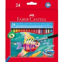 Kredki akwarelowe FABER CASTELL Rybka 24 kolory