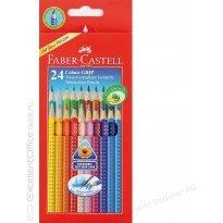 Kredki ołówkowe FABER CASTELL Grip 2001, trójkątne 24 kolory