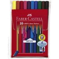 Flamastry FABER CASTELL Grip Color Marker 10 kolorów