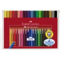 Flamastry FABER CASTELL Grip Color Marker 20 kolorów