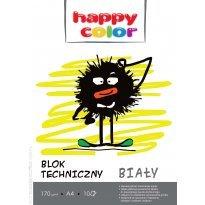 Blok techniczny HAPPY COLOR A4/10k biały
