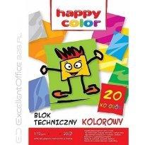 Blok techniczny HAPPY COLOR A4/20k, 170g, kolorowy