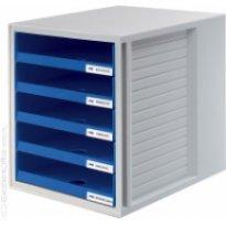 Zestaw 5 szuflad otwartych HAN Cabinet-Set A4 szaro-niebieski