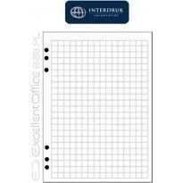 Wkład do segregatora INTERDRUK A4/100k kratka biały