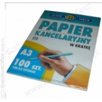 Papier kancelaryjny INTERDRUK A3/100k kratka