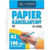 Papier kancelaryjny INTERDRUK A3/100k linia
