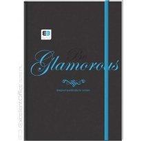 Brulion INTERDRUK Black&Blue BE.GLAMO A5/96k kratka z gumka