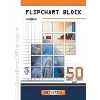 Blok do flipchartów INTERDRUK 640x955mm 50k gładki