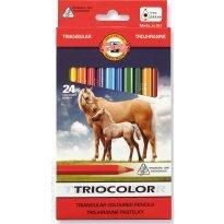 Kredki ołówkowe KOH-I-NOOR TRIOCOLOR 24 kolory