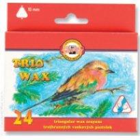 Kredki woskowe KOH-I-NOOR Trio Wax Jumbo 24 kolory
