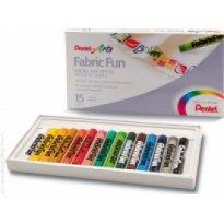 Pastele do tkanin PENTEL ARTS 15 kolorów