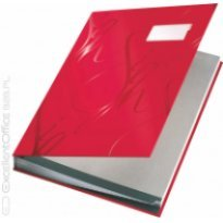 Teczka do podpisu LEITZ DESIGN A4 18 przegródek czerwona
