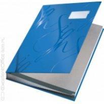 Teczka do podpisu LEITZ DESIGN A4 18 przegródek niebieski