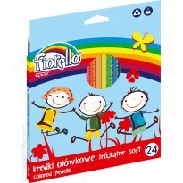Kredki ołówkowe FIORELLO Super Soft, trójkątne 24 kolory
